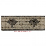 "Harbor (brown), Honed Mosaic Tile Listello 4"" x 12"""